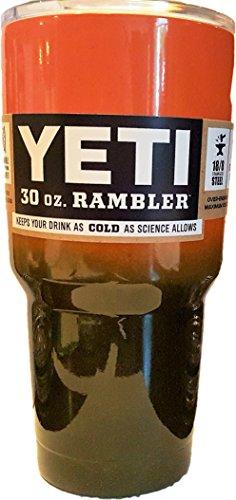Yeti Rambler 30 Oz, Stainless Steel, Powder-coated, Custom Colors (Orange/Black)