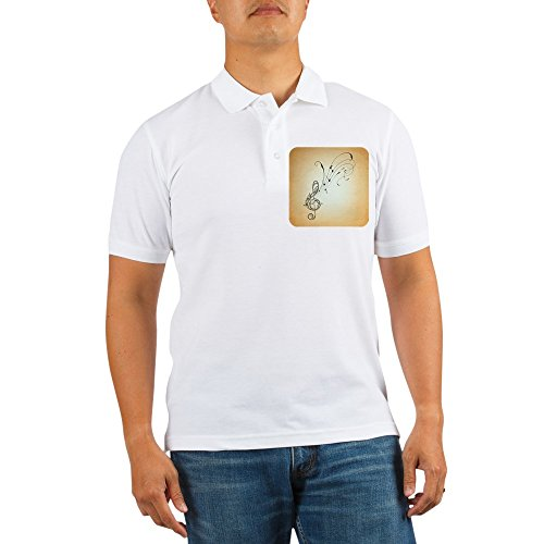 Royal Lion Golf Shirt Musician Treble Clef Music Notes - Medium