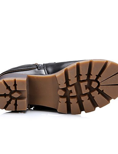 Stiefel Damen Schwarz brown Kunstleder Rundeschuh us6 eu37 Stiefel Motorradstiefel cn37 uk4 Armeestiefel Outddor 5 5 Lässig 5 7 Braun Modische Plateau Gelb XZZ 86Pfqdx8