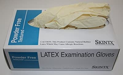 Skintx 90005 Latex examination gloves, powder-free, textured (small)