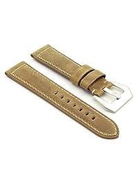DASSARI Salvage Beige Vintage Leather Watch Band for Panerai 26/24 26mm