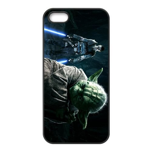 Star Wars The Force Unleashed 2 8 coque iPhone 5 5s cellulaire cas coque de téléphone cas téléphone cellulaire noir couvercle EEECBCAAN00234