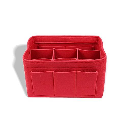 Rojo Bolso cosm/ético de fieltro Bolsa de almacenamiento de fieltro de protecci/ón ambiental multifuncional Bolso de fieltro en el paquete Mummy Bag
