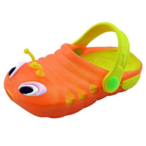 Huifa 2019 Fashion Summer Toddler Baby Cute Cartoon Beach Sandals Little Girl Slippers Flip Shoes (Orange,19)