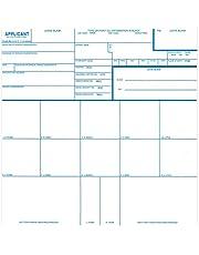 Fingerprint Cards, Applicant FD-258, 50 pack