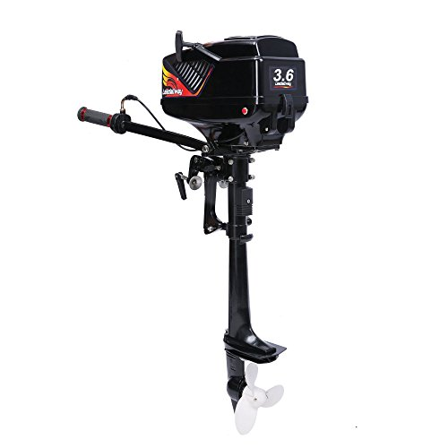 Outboard Motor Package - LEADALLWAY Outboard Motor 2 Stroke 3.6 HP Inflatable Fishing Boat Engine Water Cooled