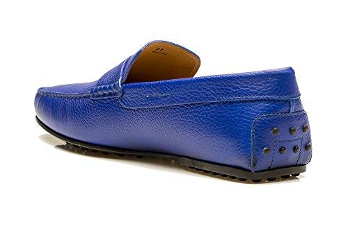 Tods Heren Leren Mocassins City Gommino Loafer Schoenen Blauw