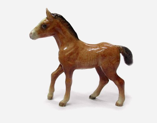 HORSE Bay FOAL steps up MINIATURE New PORCELAIN Northern Rose R236