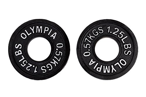 Ader Black Olympic Plates (1.25lbs) Pair, 2 Pieces
