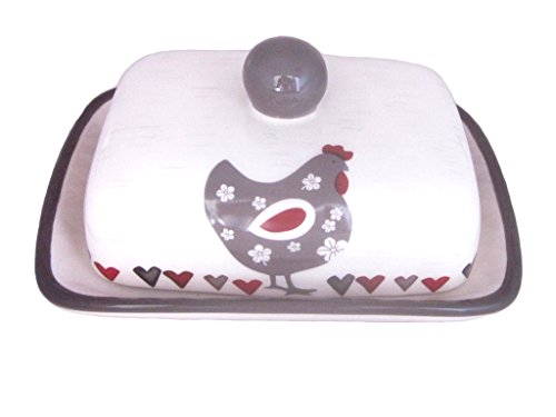 Hen Dish - Ceramic Hen Butter Dish with Cover