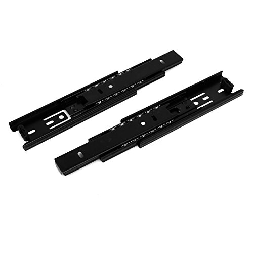 uxcell 6 Inch Length 3-Section Ball Bearing Full Extension Drawer Slides Track Black 2pcs by uxcell