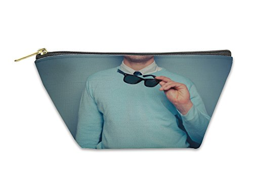 Gear New Accessory Zipper Pouch, Smart Young Man With Sunglasses, Large, - Cambridge Glass Go