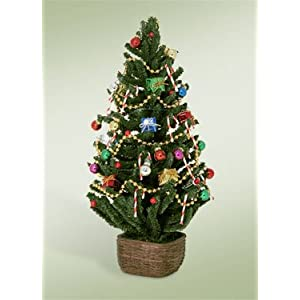 Byers' Choice Carolers Decorated Tree with Lights 86