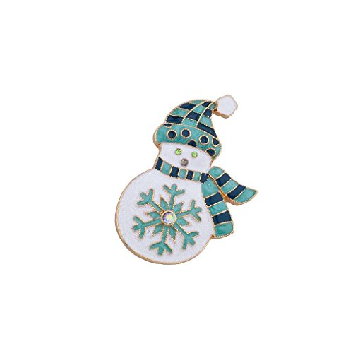 Lux Accessories Christmas Xmas Holiday Enamel Glitter Snowflake Snowman Brooch Pin from Lux Accessories
