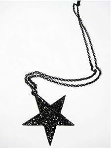 Shining Star Pendant Necklace with Rhinestones