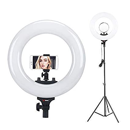 Amazoncom Tolifo 14 Bi Color Led Ring Light With Stand Camera