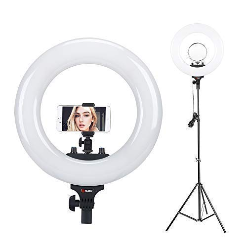 "Tolifo 14"" Bi Color LED Ring Light with Stand"