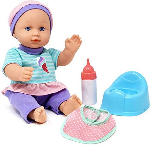 Drink and Wet Baby Doll, with Training Potty, Bottle, Bib ()