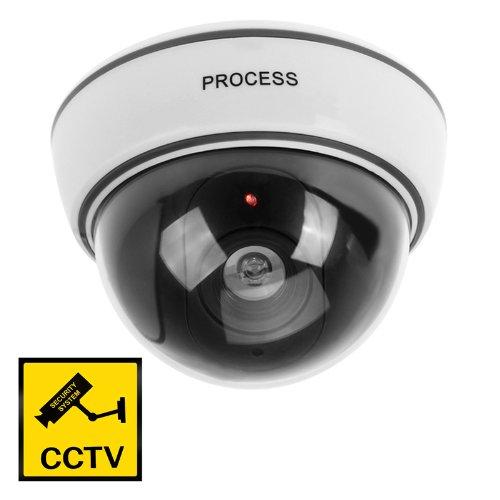 Cámara Simulada de Vigilancia CCTV Fake Camera - Flashing LED Seguridad Hogar Interior/Exterior (Cámara Domo 1500B) product image