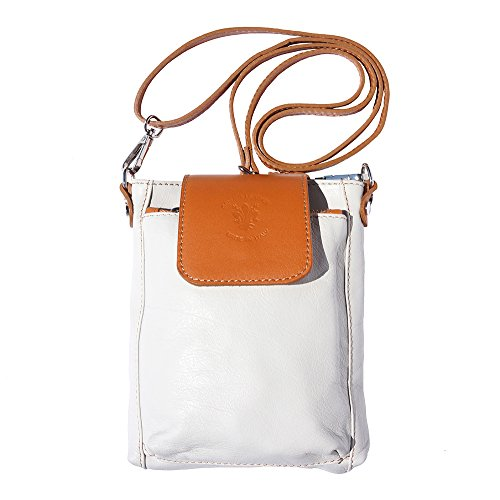 "Cuero 9607 De Leather Bolso Market Florence Bandolera marron Beige Claro ""stella qxRTXwP0n"