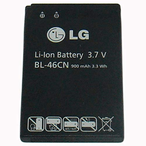 OEM LG Battery for LG A340 (BL-46CN) 900 mAh 3.3 Wh - Non-Retail Packaging - Black (Volt Batteries Lg)