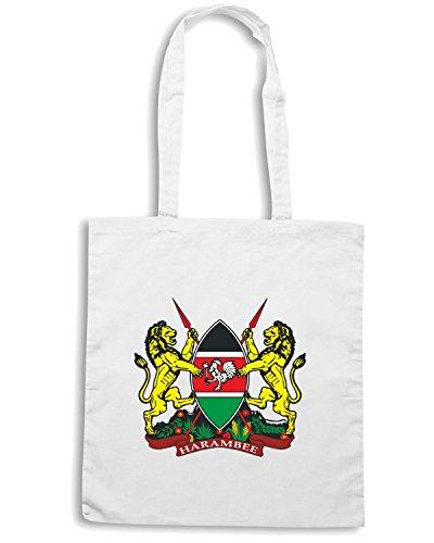 T-Shirtshock - Bolsa para la compra TM0101 kenya court of arms citta Blanco