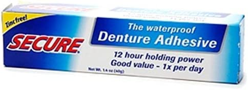 Secure Denture Adhesive >> Secure Denture Adhesive 1 4 Oz Pack Of 11