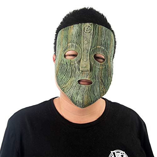 Masks Halloween Christmas Face V-Vendetta Cos Half face Death Horror Adult Male Werewolf Kill Toys & Games (Color : Green, Size : 29CM/11inch)
