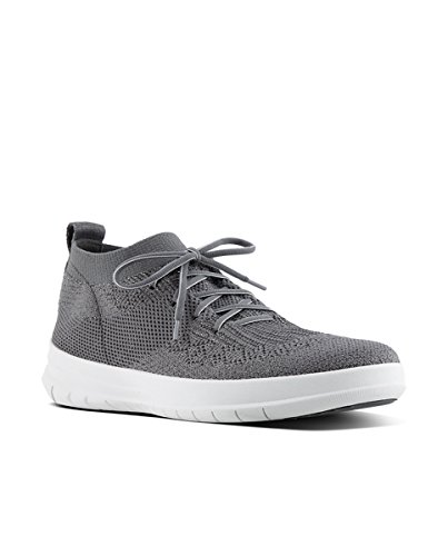 High Grigio on Donna Slip charcoal Sneaker Alto 551 Pewter Collo Fitflop Uberknit metallic Top tqpZwF