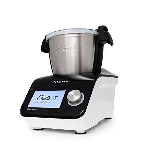 IKOHS Robot de Cocina Multifunción CHEFBOT Touch. 23 Funciones, 12 Velocidades con Turbo, WiFi, hasta 120ºC, Programable…
