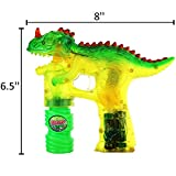 Haktoys 2-Pack T-Rex Dinosaur Bubble Shooter Gun