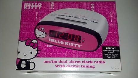 Hello Kitty Am/Fm alarma dual radio reloj con sintonización digital: Amazon.es: Electrónica