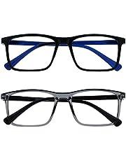 Opulize Ink 2 Stuks Leesbril Groot Zwart Grijs Mannen Vrouwen Scharnieren Met Veer RR4-17