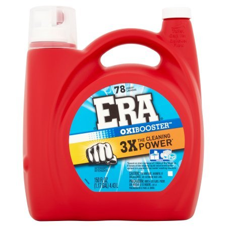 PACK OF 4 - Era 2x Ultra with Oxi Booster Liquid Laundry Detergent, 78 Loads, 150 fl oz