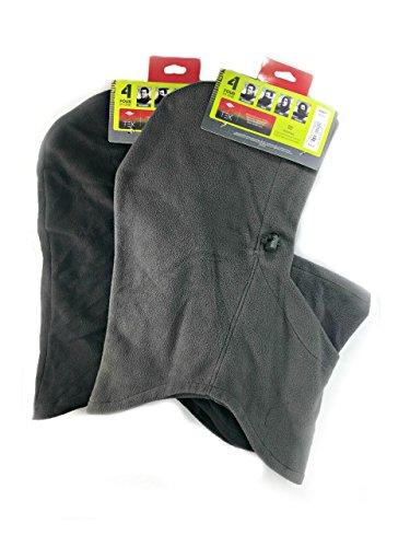 Tek Gear Mens Microfleece 4 In 1 Winter Hood For Men One Size (Charcoal & Black) by Tek Gear