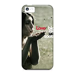 First-class Case Cover For Iphone 5c Dual Protection Cover Love by lolosakes