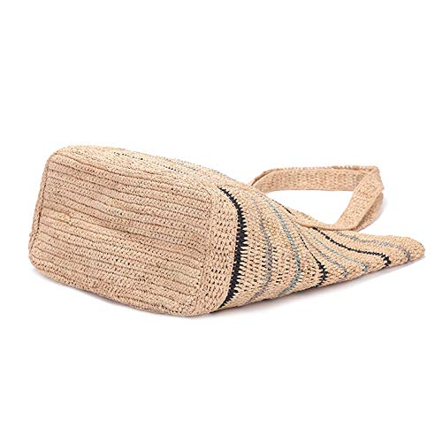 GSERA Stor kapacitet nät shoppingväskor Raffia axelväskor stickning handväska urholkade strandväskor halmväskor