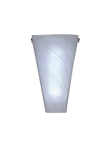 Itu0027s Exciting Lighting IEL 4400 Frosted Marble Glass Conical Sconce, Battery  Powered Wall Sconce