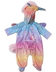 BABY born 828205 Eenhoorn Onesie voor Poppen van 43 cm - Ideaal voor Kinderhandjes, Bevordert Creativiteit, Empathie & Sociale Vaardigheden, Vanaf 3 Jaar- Met Zachte Manen, Hoorn & Buidel