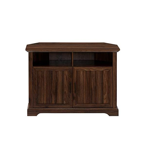 Walker Edison Ashbury Coastal Style Grooved Door TV Stand for TVs up to 80 Inches, 70 Inch, Stone Grey