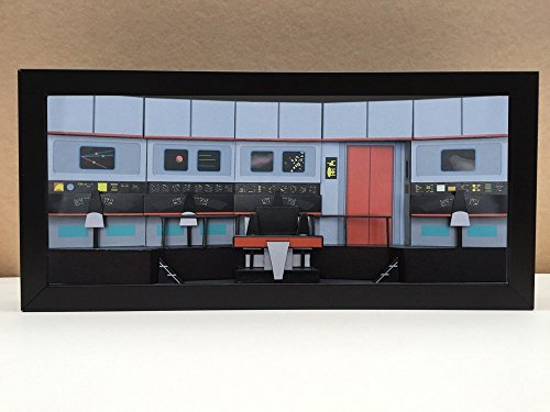 Star Trek Bridge - USS Enterprise Bridge shadowbox diorama - memorabilia picture art collector gift by Slick Artwork
