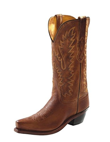 Old West Tan Canyon Womens All Leather 12in Snip Toe Cowboy Western Boots 7 B