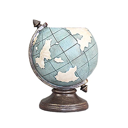 HEYFAIR Creative Globe Pen Pencil Holder Multifunction Desk Organizer Accessories