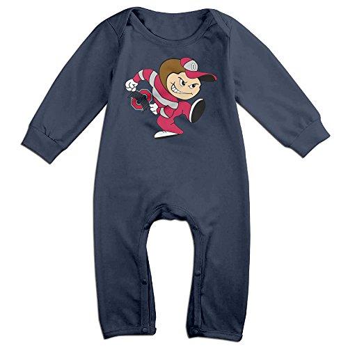 [Ahey Boy's & Girl's Ohio State University Long Sleeve Bodysuit Outfits 6 M] (Dwayne Johnson Baby Costume)
