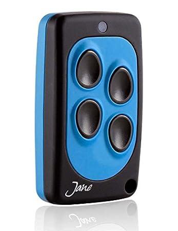 Telecomando universale Jane Q quarzato 40,685 Mhz , 5 colori disponibili, radiocomando 4 canali, compatibile con tutti i telecomando della stessa frequenza a codice fisso. (nero blu) Italfile