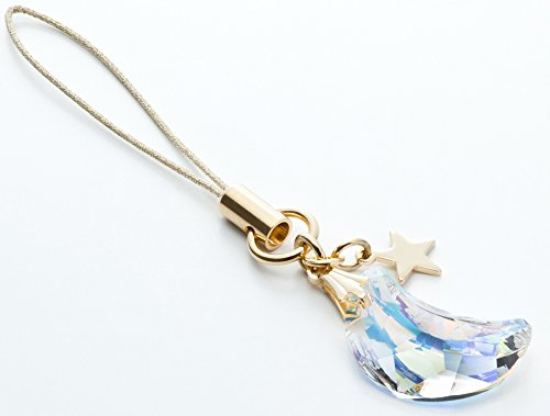 Kisaragi Cell Phone Strap 031 Crescent - Crystal Aurora (Gold Court) from Kisaragi