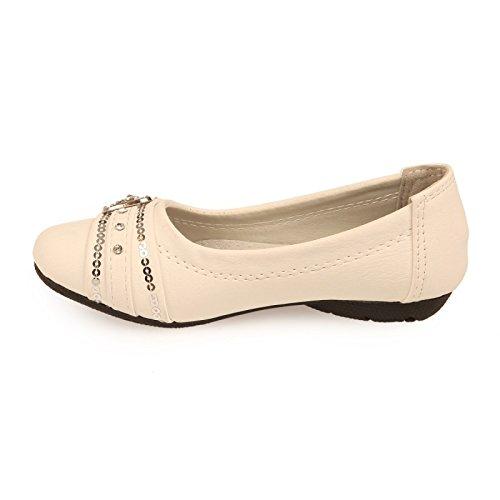 La Modeuse-Slip-on piel sintética, Blanco (blanco), 39