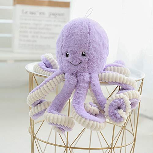 BELUPAI Octopus Plush Stuffed Toy, Cute Sea Creature Plush Toy Simulation Animals Soft Plush Pillow Gift for Kids Boys and Girls 15.7inch (Purple)