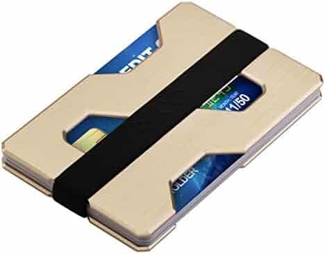 ROCO MINIMALIST Aluminum Slim Wallet RFID BLOCKING Money Clip - Futuristic Design
