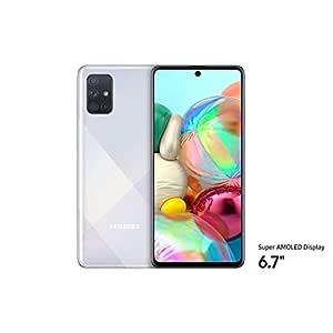 """Samsung SM-A715FZSGXSG Galaxy A71 Smartphone 6.7"""", 128 GB, 8GB Ram, Dual SIM, Android, Silver - UAE Version"""